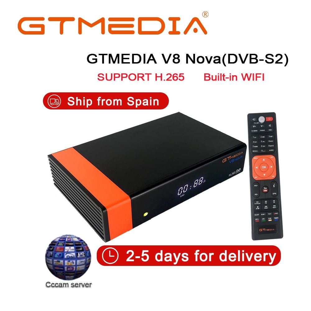 GTmedia V8 NOVA igual que Freesat V7S V9 Super DVB S2 Receptor de TV satélite decodificador + 2 líneas de Año Europeo Cccam líneas