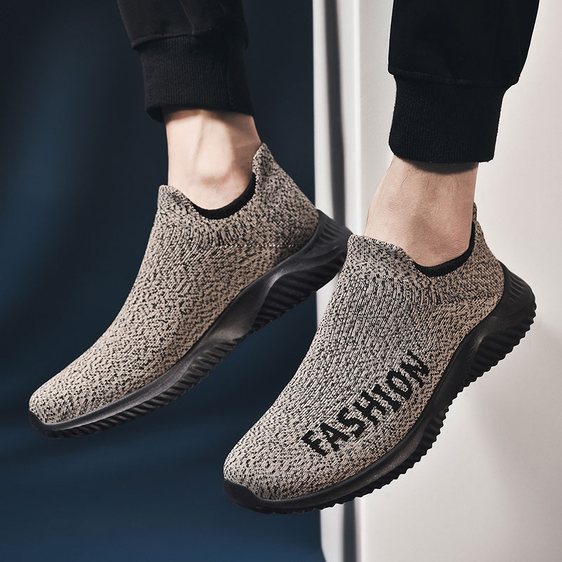 Shoes Casual Flat Loafers Sock Shoes Breathable Mesh Sneakers Sneakers Tenis Masculino Adulto Fashion Slip on Zapatos De Hombre