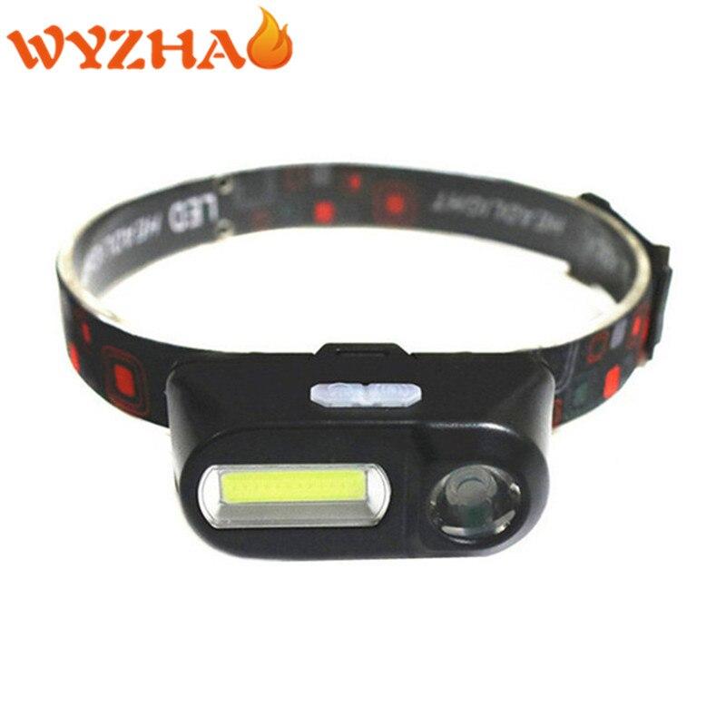 Linterna frontal LED COB, linterna frontal recargable por USB, linterna 18650, linterna, luz de cabeza para Camping, senderismo, pesca nocturna