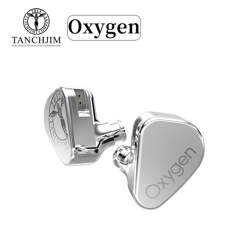 Linha tipo In-ear Fones de Ouvido de Alta Tanchjim Oxygen Dinâmico Fidelidade 3.5mm