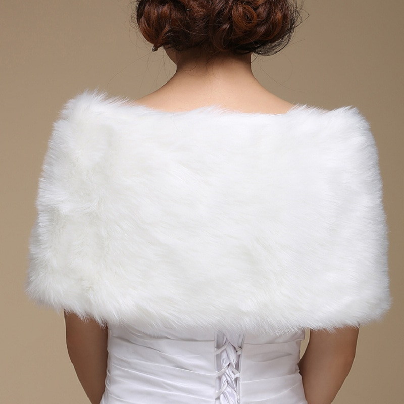 170x35 CM White Cape Wrap Wedding Accessories Bridal Women Shawl Wraps Jacket Plus Size Wedding Wrap Soft Wedding Cape Hot Sales