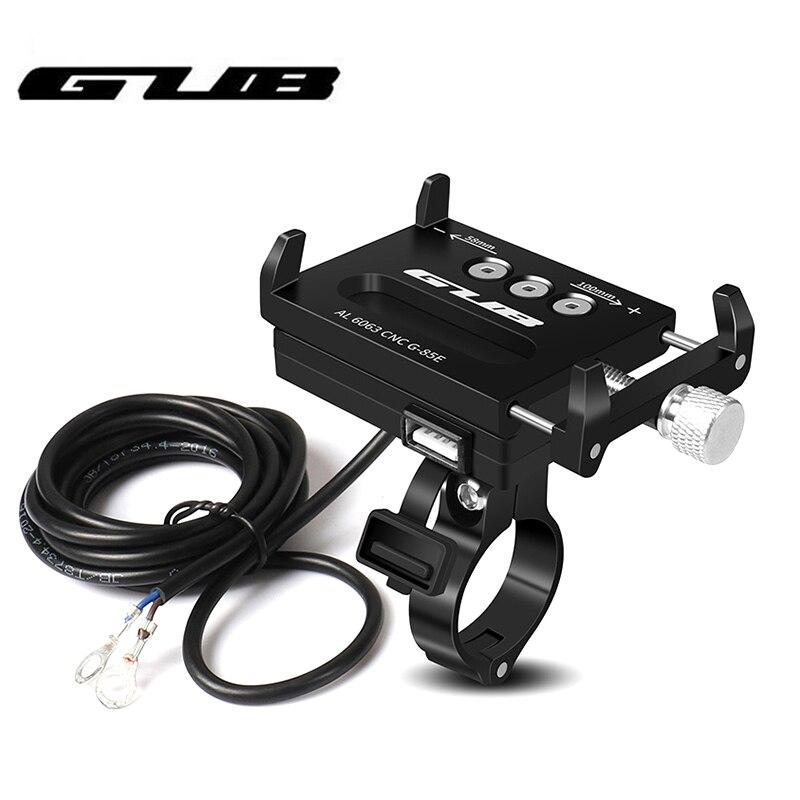 GUB USD soporte para teléfono móvil para motocicleta de aleación de aluminio MTB bicicleta GPS soporte para Smartphone Scooter 4-6,7 pulgadas soporte para teléfono