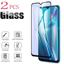 2PCS For OPPO A12 A12s A5s AX7 A7 Screen Protector Case Full Glue Tempered Glass Protective Cover On