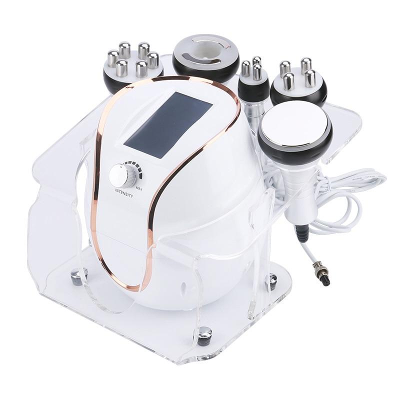 جهاز حرق الدهون خمسة في واحد جهاز الجمال بالموجات فوق الصوتية 40k آلة تهز الدهون تردد الراديو جهاز الجمال سطح المكتب