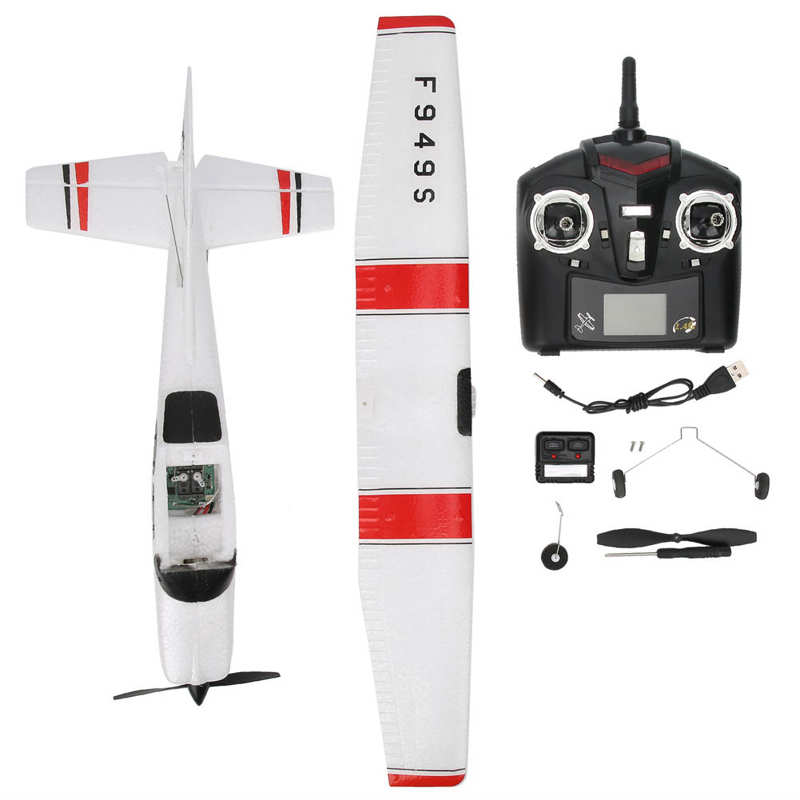 F949S 2.4GHz 3 Channels Micro RC Airplane Remote Control Fixed Wing for CESSNA-182 Toy enlarge