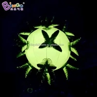 customized 2 4m diameters inflatable flower balloon inflatable led star light up toy