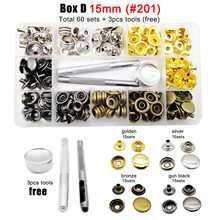 60/100 комплекты 10 мм 12,5 мм 15 мм металлические застежки кнопки нажимаются, встроенный в транспортное средство с инструмент кожаная сумка Одежд...