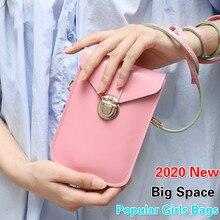 Mini Solid Women Fashion Mobile Phone Buckle Bag Girls Storage Cell Bags PU Handbag Crossbody Bags Portable Lady Leather Bags