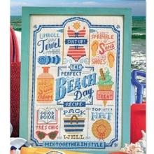 Sand, Sun & Sea cross stitch package still life 18ct 14ct 11ct cloth cotton thread embroidery DIY handmade needlework