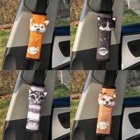 universal 3d cartoon animal car seat belt shoulders pad safety belt for car shoulder covers protector car interior accessories