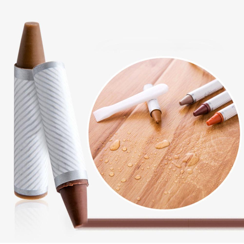 Reparación de piso de grano de madera pintar muebles reparación de puertas crayón Reparación de arañazos crema Color oscuro reparación lápiz