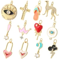 evil blue eye red love heart cross designer charms for diy earrings necklace bracelet accessories supplies for jewelry making