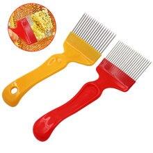 Fourchettes abeille à miel   Outils pour lapie fourchettes à miel 21 broches, aiguilles droites, fourchettes à ouvrir, poignée acier inoxydable, peigne à pelle à miel