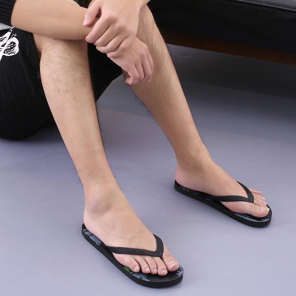 Chanclas de verano de un Color para hombre, chanclas negras y azules para parejas, sandalias de playa para vacaciones, zapatillas de piscina de agua # es