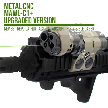 MAWL-C1+ Real Metal CNC Upgraded Version Newest Replica For Tactical Airsoft IR / Visible Aiming Laser With EC2