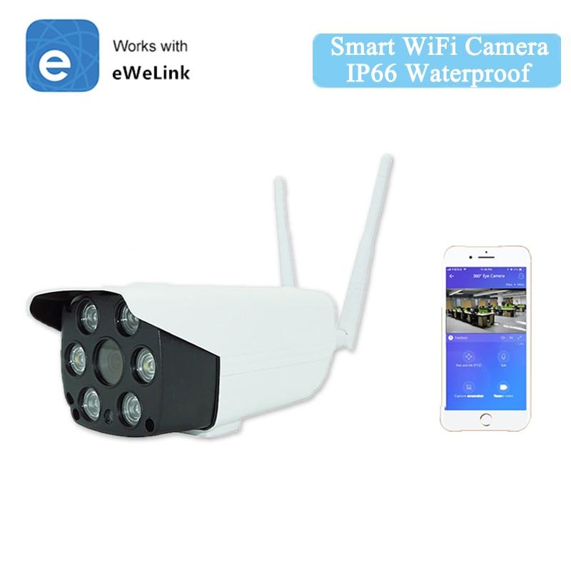 Ewelink Smart IP66 Cámara impermeable WiFi inteligente Cámara 1080P Audio bidireccional intercomunicador visión nocturna IR LED Cámara al aire libre