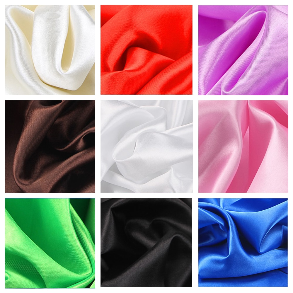 30 color soft satin fabric wedding party decoration box lining DIY clothing sewing background access