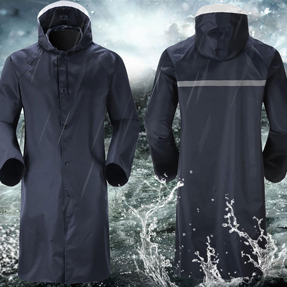 Fashion Raincoat Thickened Waterproof Rain Coat Unisex Outdoor Travel Working Poncho Hooded Raincoat Camping Rainwear Suit