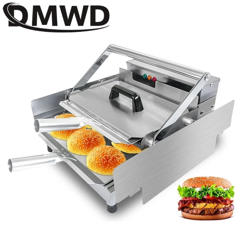 DMWD خبز برغر آلة التجارية الكهربائية همبرغر الخبز فرن الخبز شواء الألومنيوم مزدوجة طبقة دفعة كعكة محمصة سخان الاتحاد الأوروبي