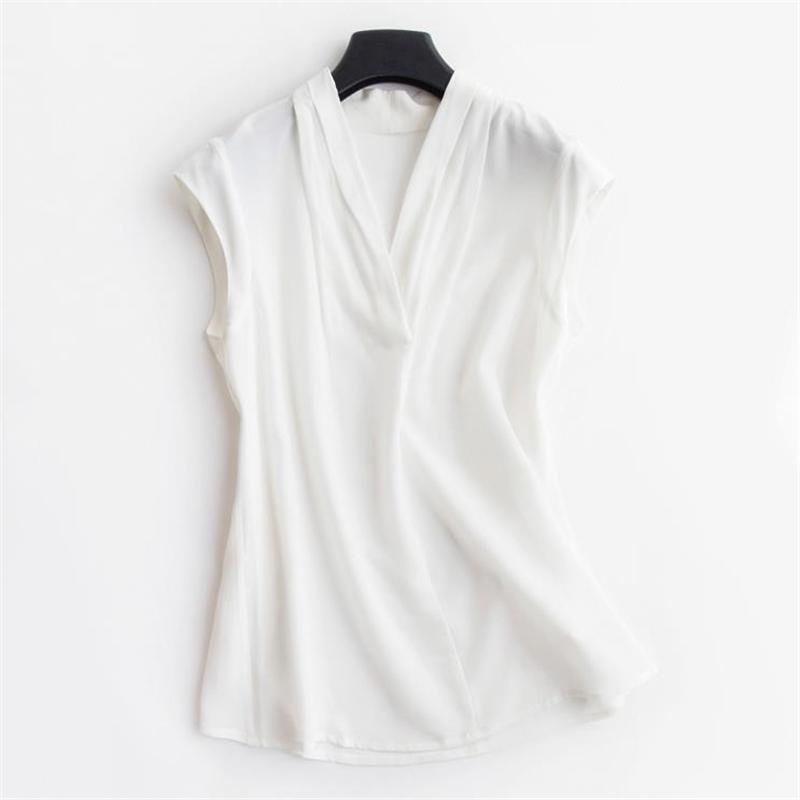 بلوزات حريرية نسائية صيفية 100% قمصان حريرية رفيعة للسيدات قطع علوية من الحرير قابلة للتنفس للسيدات بلوزات كبيرة الحجم من الحرير