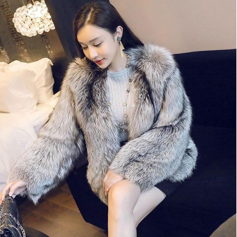 fur Short fashion small Winter 2020 fox fur coat Women fur fragrance artificial fur one coat фото