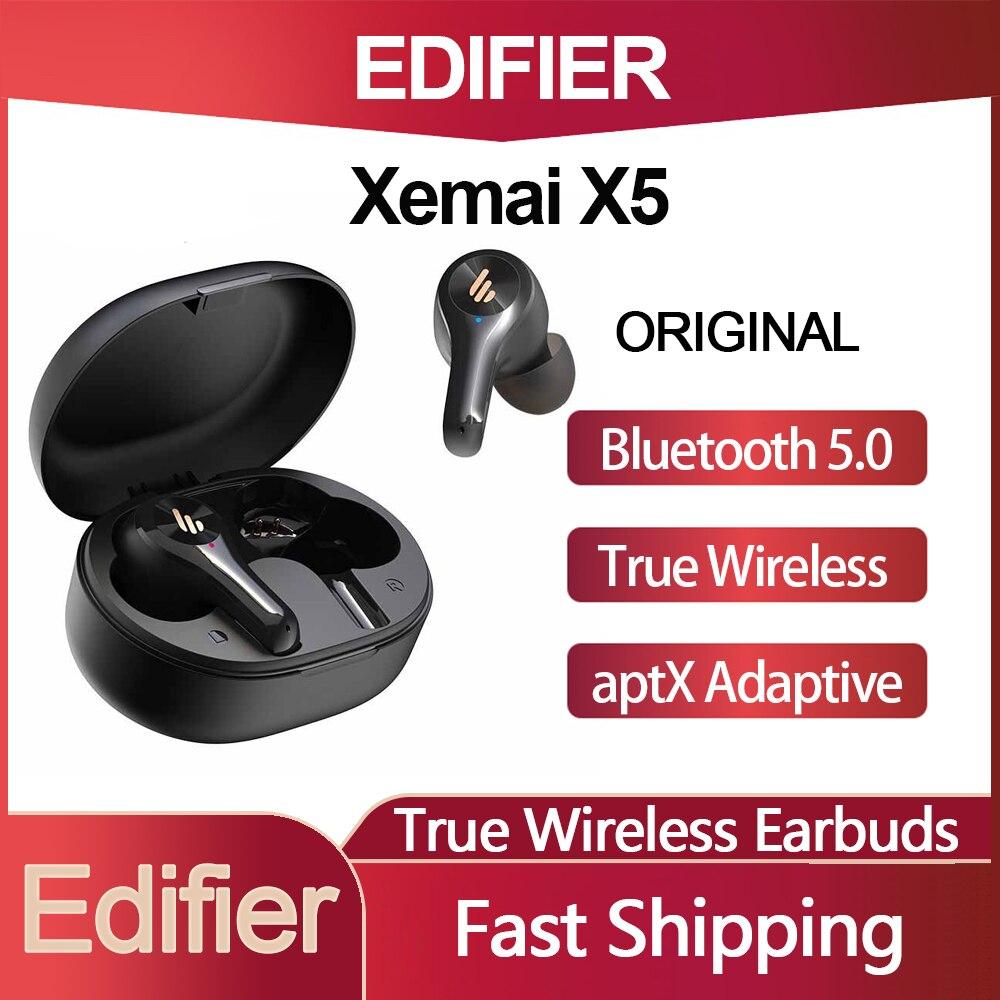 اديفير Xemal X5 سمّاعات أذن لاسلكيّة داخل الأذن سماعات بلوتوث 5.0 سهل الإقتران إلغاء المكالمات عميق باس TWS للرياضة