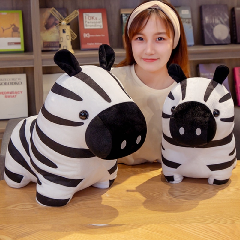 High-quality cute cartoon zebra animal plush toy pillow is a birthday gift for children and boyfriends and girlfriends 1pc super cute injustice cat plush toy staffed plush pillow birthday gift high quality