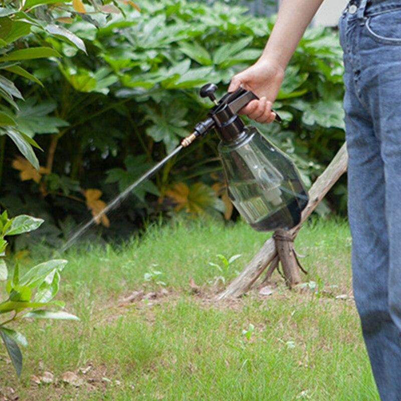 Botella de Spray portátil de alta presión de 1,5 l, minihervidor de jardín con pulverizador de plástico para plantas y flores, pulverizador de herramientas de jardinería