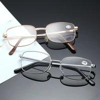 classic metal presbyopic glasses mens and womens simple resin glasses solid color anti blue light retro glasses