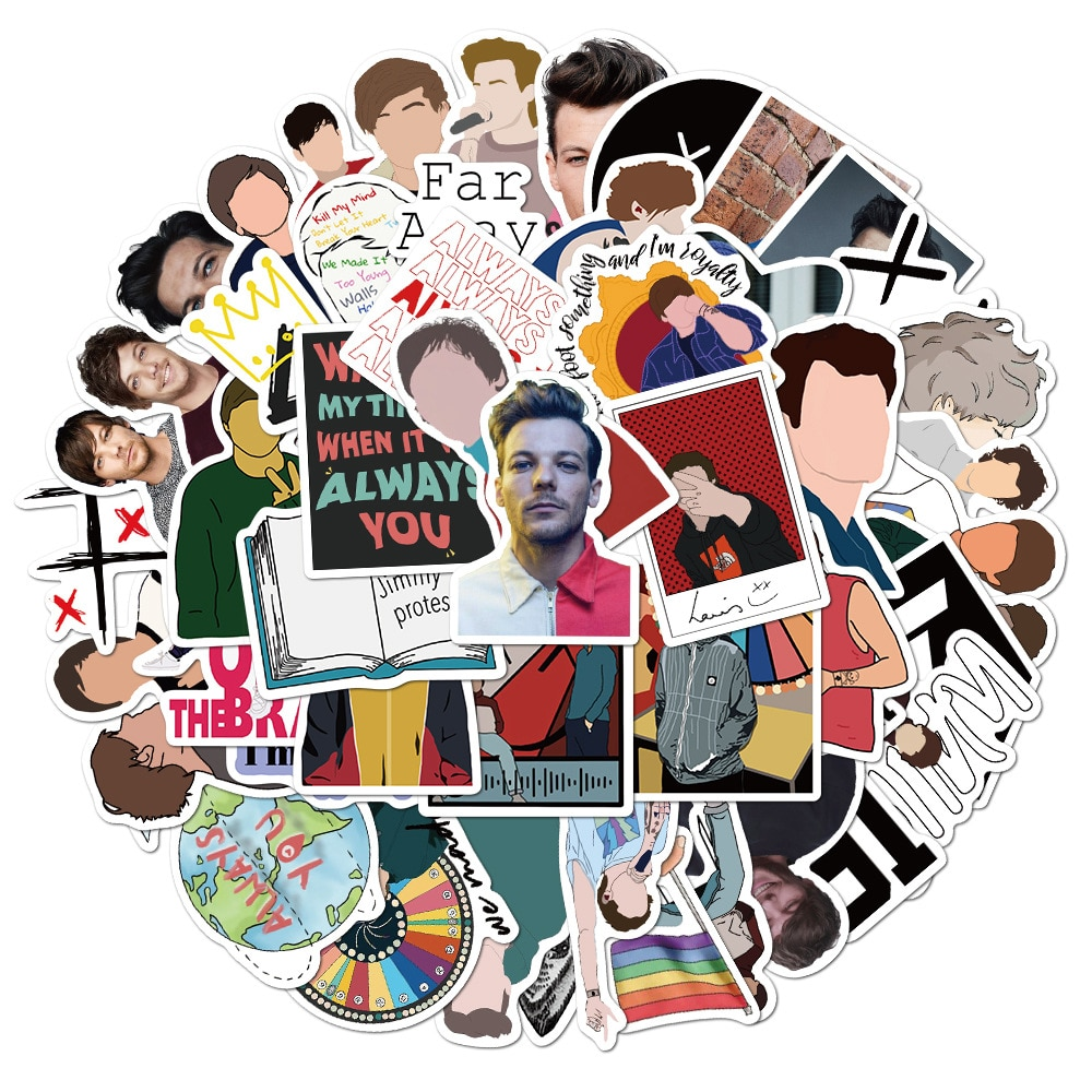 50 шт. 1D One Direction Singer Луи Томлинсон стикер s Pack для DIY чемодан гитара ноутбук пегатина мотоцикл Стайлинг стикер