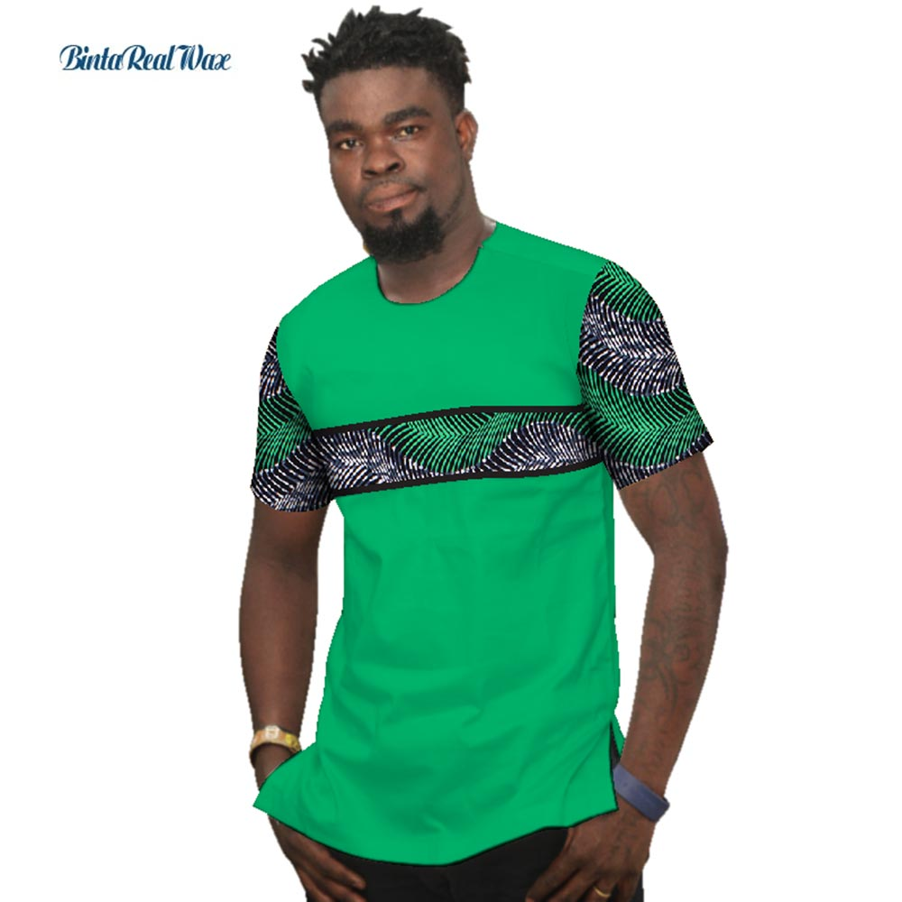 Мужская рубашка Bazin Riche, летняя Лоскутная рубашка из 100% хлопка с принтом Дашики в африканском стиле, одежда в традиционном африканском стиле,...