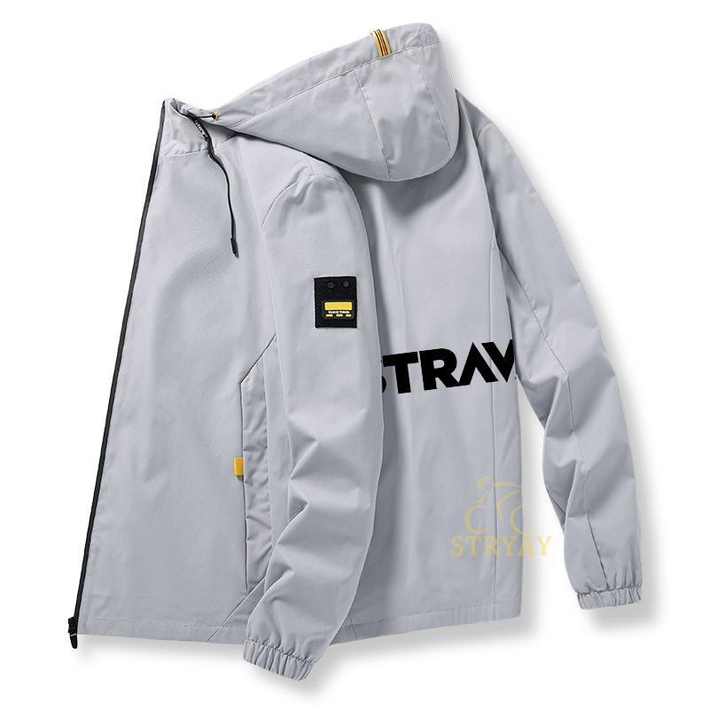 Мужская велосипедная куртка Strava, модная мужская куртка, модная зимняя спортивная куртка для езды на горном велосипеде, мужская одежда