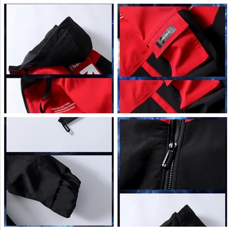 Men Trendy Jackets Men High Street Print Cargo Jackets Spring Autumn New Windproof Pilot Jacket Male  - buy with discount