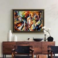 Leonid     affiche murale de Jazz  image abstraite de paysage nocturne  peinture sur toile  pour decor de maison