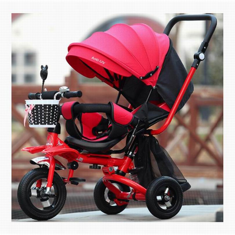 Baby pram baby stroller child tricycle adjust seat  child carriage child bike three in one for 6 month-6 years baby pushchair