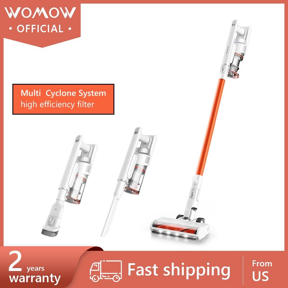 مكنسة كهربائية لاسلكية W5G من Womow بقدرة 2.9lb فائقة الخفة قابلة للشحن تعمل بفراغ متعدد الإعصار لا سلكي سيارة محمولة