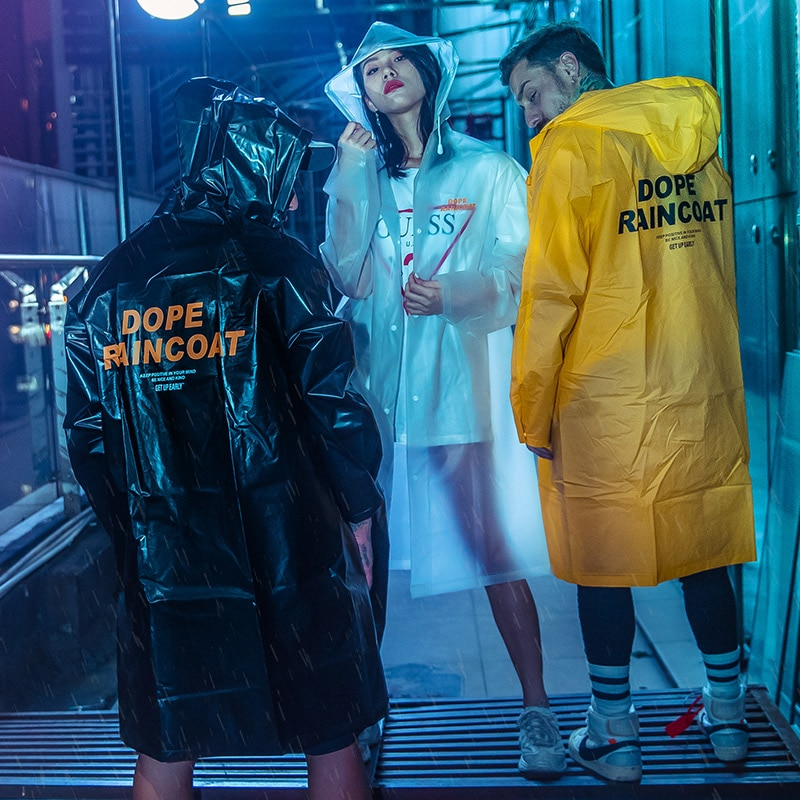 Aolamegs Men Coat Waterproof Trench Cardigan Raincoat Male Multi-color Optional Fashion High Street Hip Hop Style Streetwear