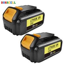 Bonacell 4000/6000mAh 18V pour Outil Électrique Dewalt Batterie pour DCB180 DCB181 DCB182 DCB201 DCB201-2 DCB200 DCB200-2 DCB204-2 L30