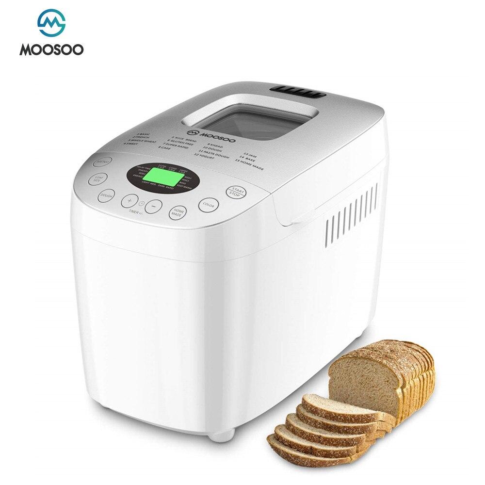 MOOSOO MB50 хлебопечка, автоматическая хлебопечка, 870 Вт, ферментирующая мука, тостер, хлебопечка, электрическая хлебопечка для завтрака хлебников владимир хлебопечка домашняя пекарня