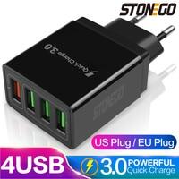 STONEGO 31 Вт мульти-Порты и разъёмы USB Wall Зарядное устройство, 4-Порты и разъёмы Выход W/ QC 3,0 + с 3 портами (стандарт Порты и разъёмы, быстрая зарядка...