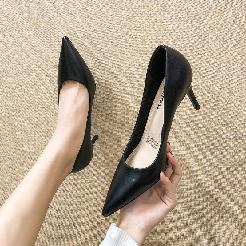 capputine new arrival italian style woman shoes and bags set 2018 shoes with matching bag set lady dress party shoes bl0021 Women's Pumps Classic Designer Woman Black Shoes Leather Stiletto Summer High Heels Sexy Lady Girls Dress Wedding Party Shoes