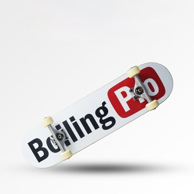 Adults Beginners Skateboard Hardware Professional Complete Maple Skateboard Double Rocker Planche De Skate Outdoor Sports DK50SB