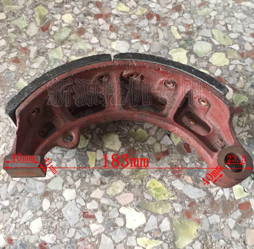 Xinyuan mechanical wheel excavator brake shoe front / rear brake disc brake disc brake shoe original fittings