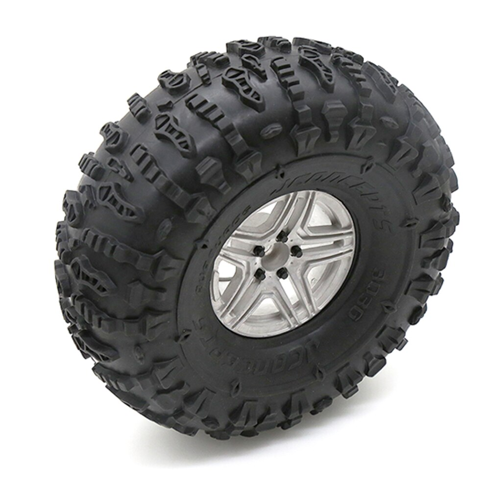 4PCS 2.2 Wheel Tires & Metal  Wheel Rim for 1/10 RC Rock Crawler Axial SCX10 90046 Traxxas TRX-4 enlarge