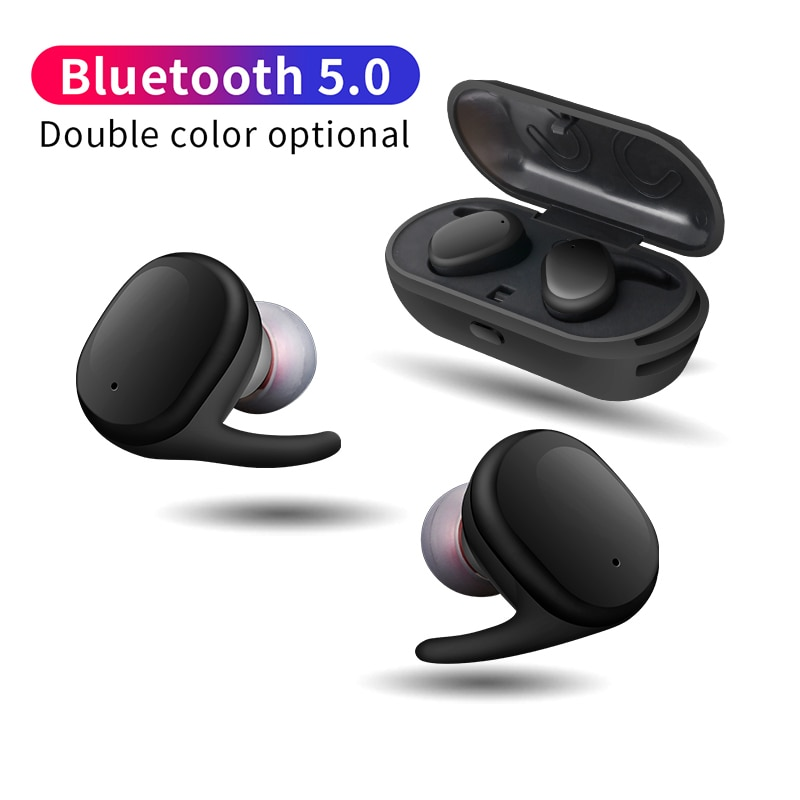 KAPCICE Capsule TWS auriculares inalámbricos V5.0 Bluetooth auriculares estéreo de graves profundos sonido deporte auricular para teléfono