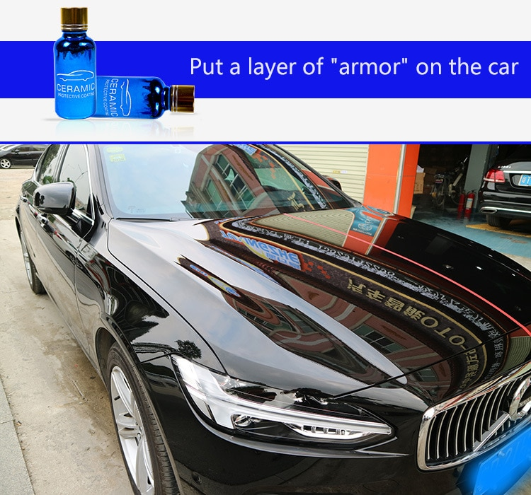 30ml 9H Car Liquid Nano Ceramic Coat Hydrophobic Glass Coating Paint Care Anti-scratch Auto Detailing Glasscoat Car Polish