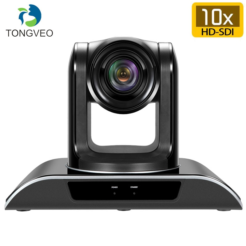 TONGVEO VHD10N 10X Zoom Lens Auto focus SDI Fisheye Camera Full HD1080P PTZ Video Conference Camera With 3G-SDI HDMI Output