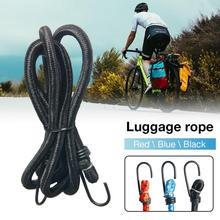 Cuerda de equipaje de bicicleta sobrecargada correa de goma Natural bicicleta coches eléctricos Camping al aire libre 140cm de longitud