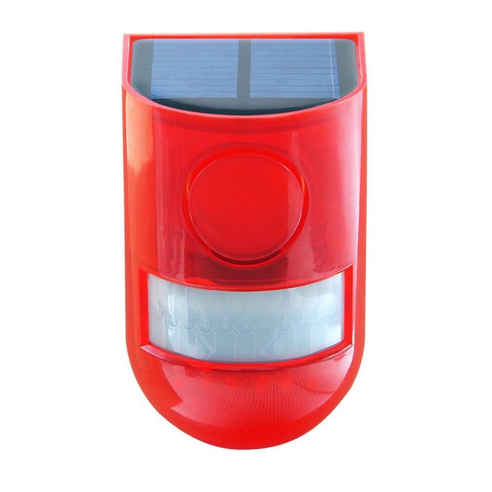 Solar Sound Alert Flash Warning Sound & Light Alarm Motion Sensor 110 Decibels Siren  Strobe Security Alarm System for Farm недорого