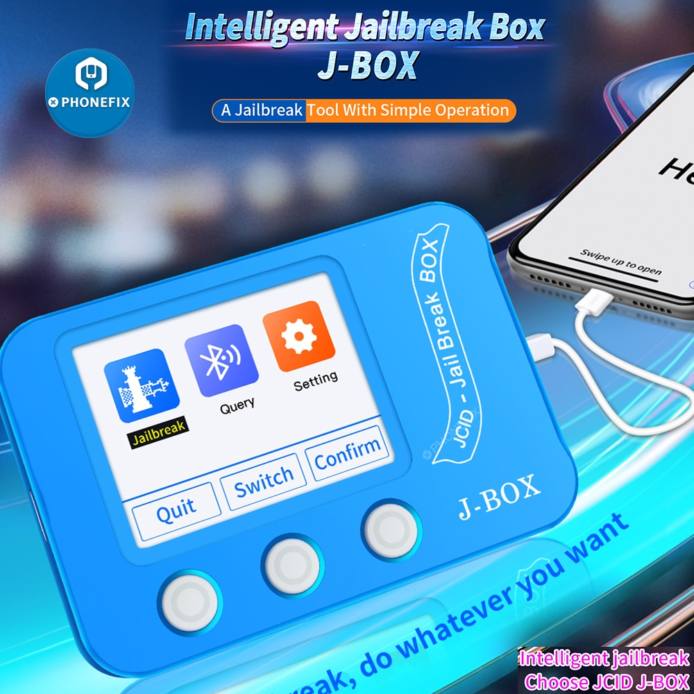 Get J BOX JC Jail Break Box JCID for bypass ID and icloud Password on iOS device for iphone / ipad Check wifi bluetooth address